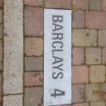Barclays parking marker