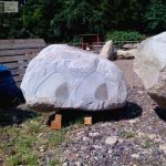 Granite Boulder with decorative sandblasted detail