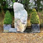 Split Glacial Granite Boulder